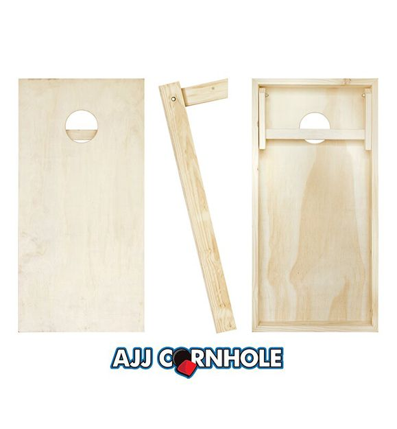 AJJ Cornhole Plain Wood Boards