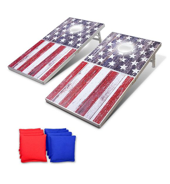 GoSports American Flag LED Cornhole Boards
