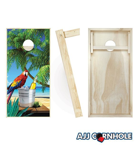 Parrot Wood Cornhole Board