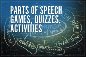 Parts of Speech Games