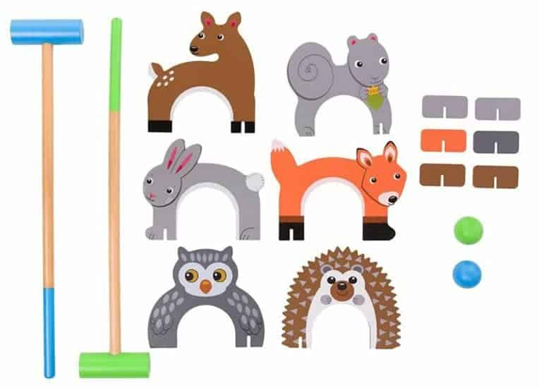 Kids Woodland Animals Croquet Set
